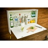 Wood pallet hanging folding wet bar drink beverage station in Camp Lejeune, North Carolina
