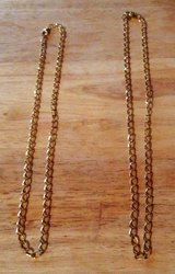 2 gold colored necklaces in Fort Polk, Louisiana