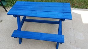 Captains Blue Child's Wood Picnic Table in Fort Campbell, Kentucky