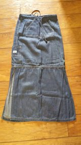 Blue Asphalt Maxi Denim Skirt, Size 5 in Kingwood, Texas