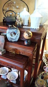 Asian three tier nesting tables in Vacaville, California