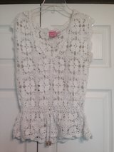 White Crochet Top in Fort Riley, Kansas
