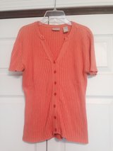 Orange V neck summer sweater in Fort Riley, Kansas