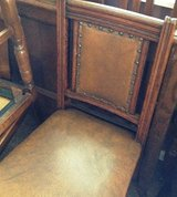 Set of 4 Oak Leather Upholstered Chairs in DeRidder, Louisiana