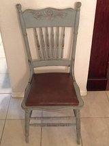 Shabby Cottage Chair Newly Distressed Chair With Seat Cushion in Kingwood, Texas