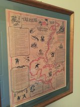 WDW 'Pirates of the Carribean' treasure map in Naperville, Illinois