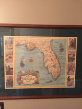 Framed Pirate treasure map in Naperville, Illinois