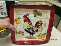 Decorative Rooster Ceramic Plate in Kingwood, Texas