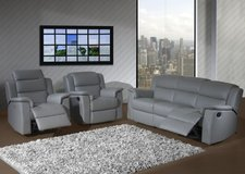 Ancona Leather Living Room Set - NEW MODEL - Sofa - 2 Chairs - monthly payments possible in Hohenfels, Germany