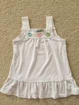 Girls 5/6 Summer Crochet White Top in Naperville, Illinois