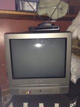 Color TV with DVD player, converter box and antenna in Camp Lejeune, North Carolina