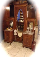 unique French dressing table with full mirror and 2 cabinets in Spangdahlem, Germany
