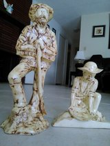 New Mexico Miner and trapper statues in Alamogordo, New Mexico