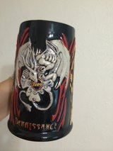tex renaissance mug 2 dragons , black red withe colors -colection 2009 in Conroe, Texas