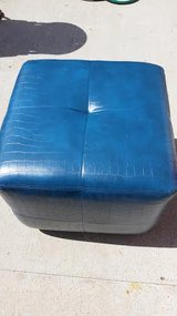 Blue / New Leather Stool in Fort Campbell, Kentucky