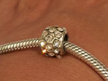 Sterling Silver Bling Pandora Style Bead in Naperville, Illinois
