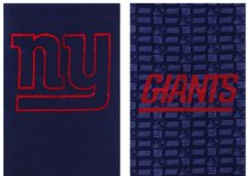 """Flag - Fiber Optic - NY Giants - 12 1/2"""" x 18"""" - as is in Fort Lewis, Washington"""