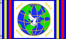 Flag - World Peace (Global) - 3' x 5' - Polyester - New in Tacoma, Washington