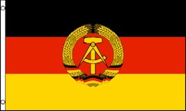Flag - East Germany - 3' x 5' - Polyester - New (viewed & refolded) in Tacoma, Washington