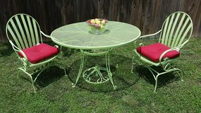 Iron 4 Piece Green Rocking Chair / Table Patio Set in Fort Campbell, Kentucky