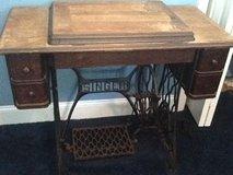 Antique singer sewing machine with table in Shaw AFB, South Carolina