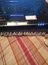 Volkswagen engine lid aluminum emblem, license plate light and lock in Clarksville, Tennessee