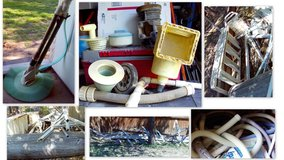 Pool & parts: filters , vacuum, skimmer, outside wall for 15 x 30 oval pool & more in Alamogordo, New Mexico