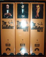 The Godfather Part I, II, III VHS Collector set in Naperville, Illinois