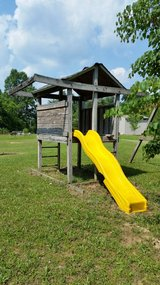 wooden swing set in Fort Knox, Kentucky