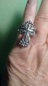 rhodium cross ring- size 6 in Baytown, Texas