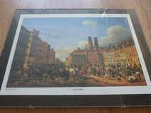 Print of 1840 Munich Marienplatz and Frauenkirche in Stuttgart, GE