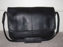 Leather Messenger Bag - black in Fort Leonard Wood, Missouri