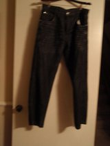 Southpole Men's 4180 Relaxed Fit Black Shiny Streaky Jean in Kingwood, Texas