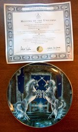 Franklin Mint Unicorn Collector Plates 1 in Lockport, Illinois