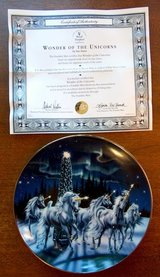 Franklin Mint Unicorn Collector Plates 2 in Lockport, Illinois