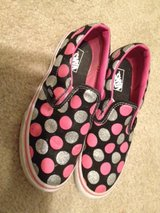 girls 3 Vans slip ons in Plainfield, Illinois