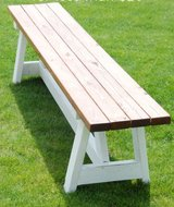 Wood bench porch patio bbq table in Camp Lejeune, North Carolina