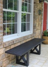 wood bench patio porch deck bbq farm table in Camp Lejeune, North Carolina