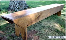 Wood bench pallet country style deck porch patio bbq farm table in Camp Lejeune, North Carolina