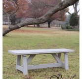 Wood bench patio porch deck bbq farm style table in Camp Lejeune, North Carolina