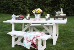 Wood picnic table BBQ style deck patio porch country style farm in Camp Lejeune, North Carolina