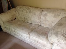 Couch w/queen pull out bed and matching oversized chair and ottoman in Algonquin, Illinois