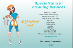 Move in or out cleaning in Beaufort, South Carolina