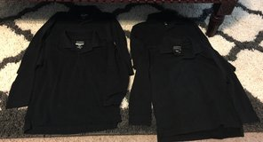 Black LS Polo Shirts (lot) in Fort Benning, Georgia