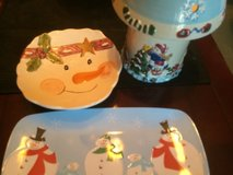 Dishes-snowman set in Fort Campbell, Kentucky
