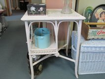 Coral  Wicker Table At Twice As Nice Flea Market Booth # 605 in Camp Lejeune, North Carolina