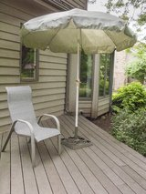 patio/deck umbrella with stand in Glendale Heights, Illinois