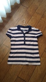 Faded Glory Blue/Pink Striped Top  Size Large in Kingwood, Texas