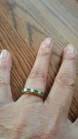 14K DIAMOND/EMERALD RING in Yucca Valley, California