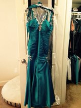 Peacock color mermaid ball gown size 0/1 in Oceanside, California